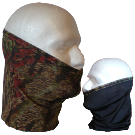 Reactive Camo-Reversible neck tube